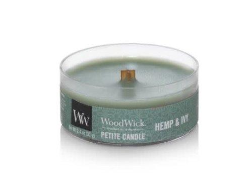 Woodwick Hemp & Ivy Petite Candle