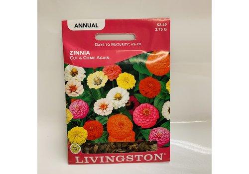 Livingston Zinnia Cut & Come Again