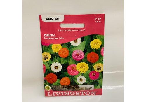 Livingston Zinnia Thumbelina Mix
