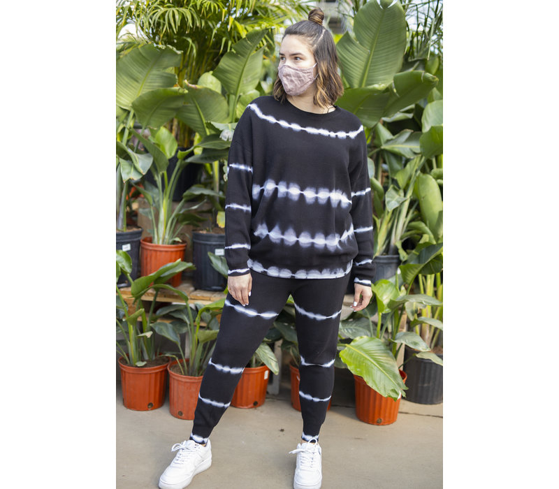 Bleached White Lines Sweatpants