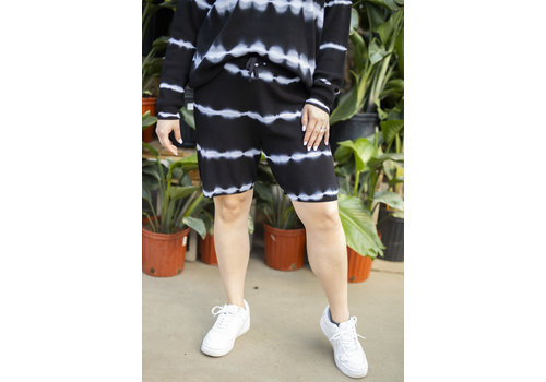 RD Style Bleached White Lines Shorts