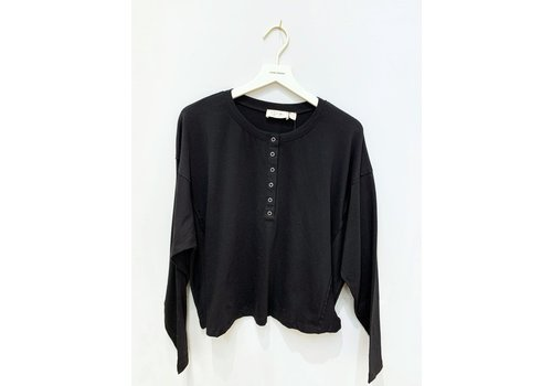RD Style Long Sleeve Button Front Top