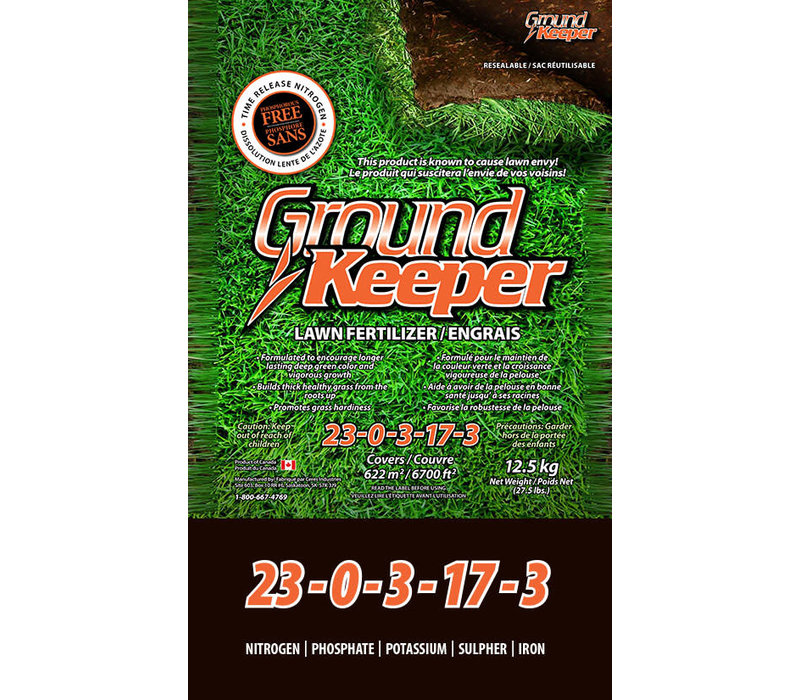 Ground Keeper Lawn Fertilizer Phos-Free 23-0-3-17-3 12.5kg