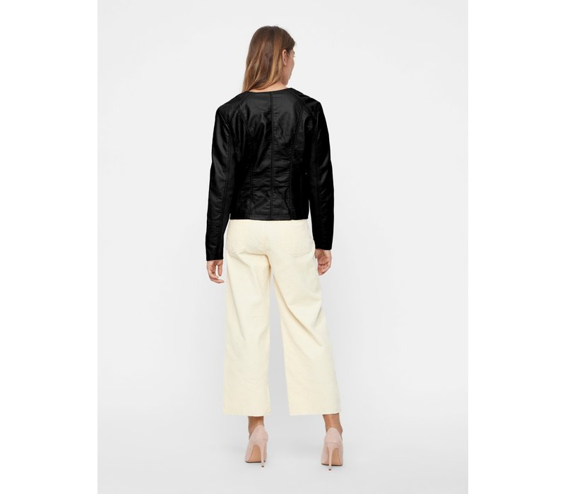 Ria Short Faux Leather Jacket