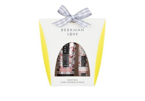 Beekman 1802 Honeyed Grapefruit Hand Cream & Lip Balm Set
