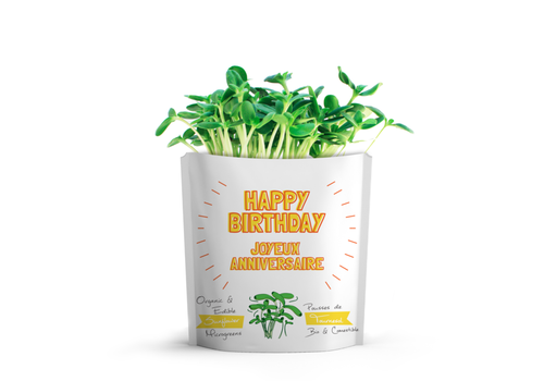 Gift-a-Green Happy Birthday Sunflower Microgreens