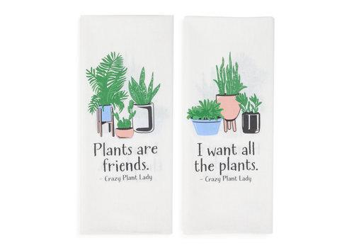 "Plant Lady Tea Towel 30""x19"""