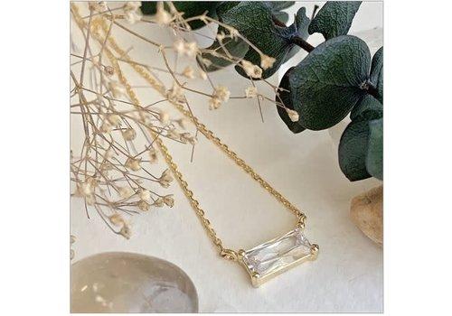 Pika & Bear Marseille Baguette Charm Necklace
