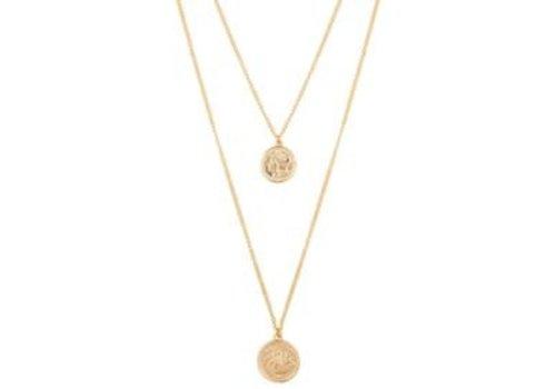 Club Manhattan Double Coin Necklace