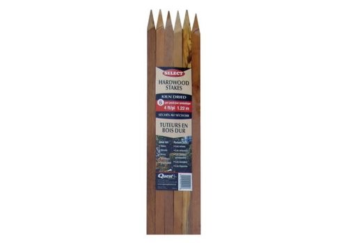 Hardwood Stakes 6 Pack 4'