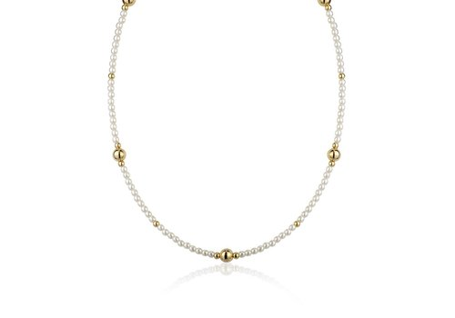 LimLim Pearl Necklace Gold Large Spacers