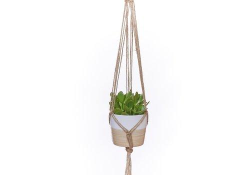 """Primitive Planters Coloured Jute Plant Hanger Natural 36"""""""