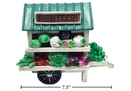"Farmers Market Wagon Decor 7.5"""