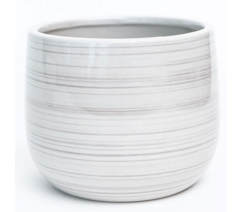 Brushstroke Effect Dolomite Pot Grey