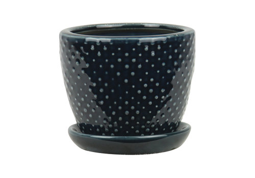 Border Concepts Classic Dot Planter With Saucer