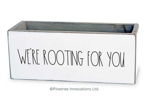 """We're Rooting For You Planter 8""""x3"""""""