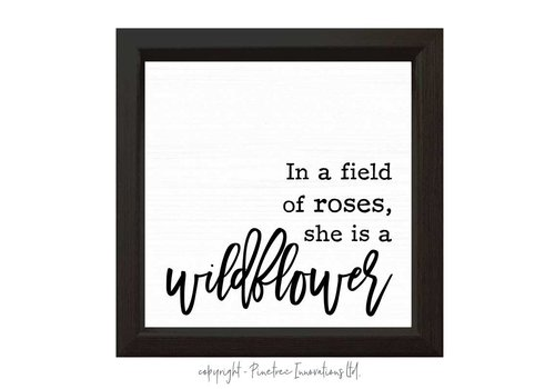 In A Field Of Roses Sign Black