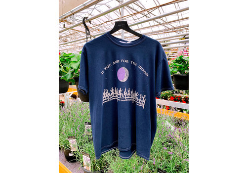 Project Social T If You Aim For The Moon Oversized Tee Navy One Size