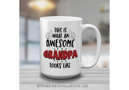 Coffee Mug Awesome Grandpa 15oz