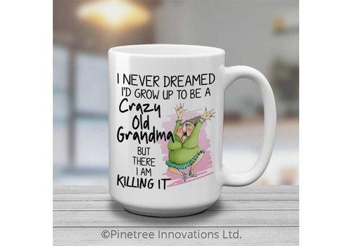 Coffee Mug Crazy Old Grandma 15oz