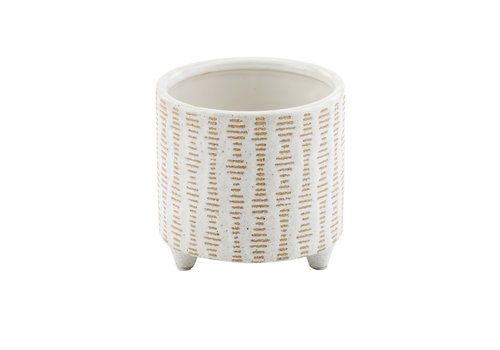 """Clay/White Footed Planter 4""""x4.5"""""""