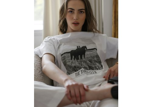 Brunette The Label Oversized Equestrian Boxy Tee