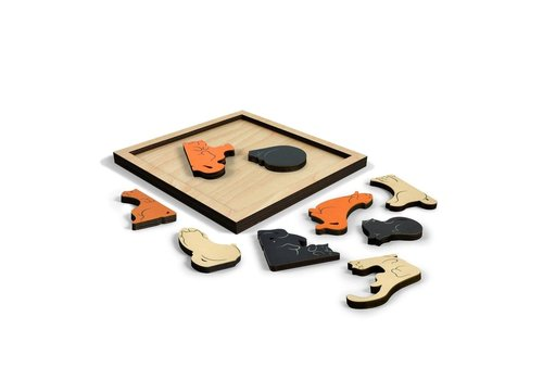Fred Cat Wooden Puzzle
