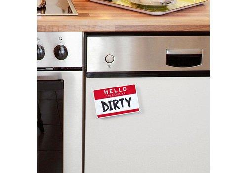 Fred Hello Dishwasher Sign