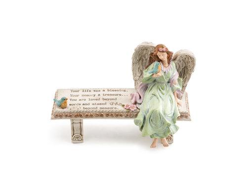 Fairy Sitting on Bench