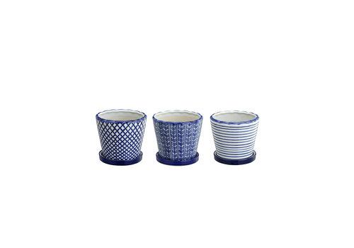 Blue and White Ceramic Pot Assorted