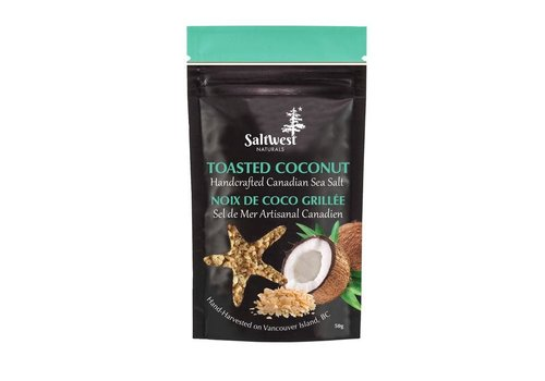 Saltwest Naturals Organic Toasted Coconut 50g
