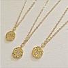 Pika & Bear Talitha Pav Starburst Charm Necklace