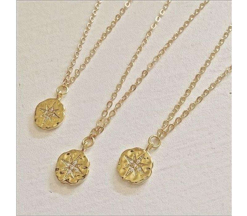 Talitha Pav Starburst Charm Necklace
