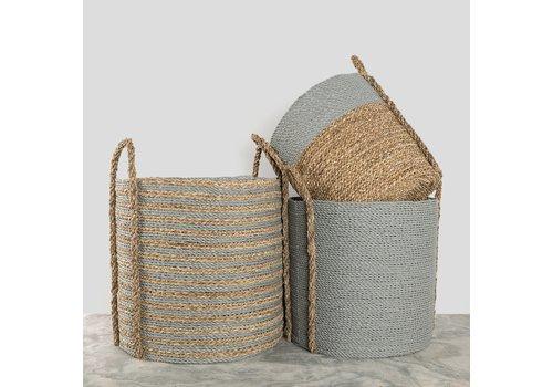 Pokoloko Handled Laundry Basket Natural/Grey