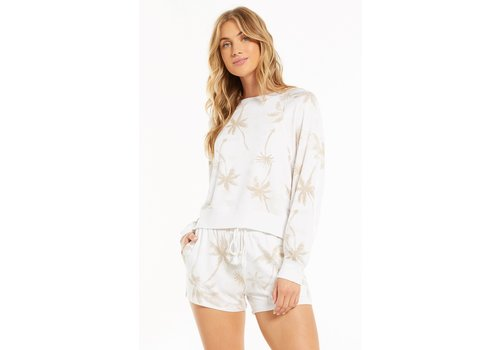 Z Supply Sleep Over Palm Sweatshirt