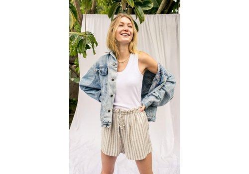 Z Supply Cay Stripe Shorts