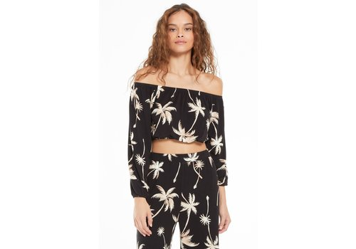 Z Supply Lei Tropical Palm Top