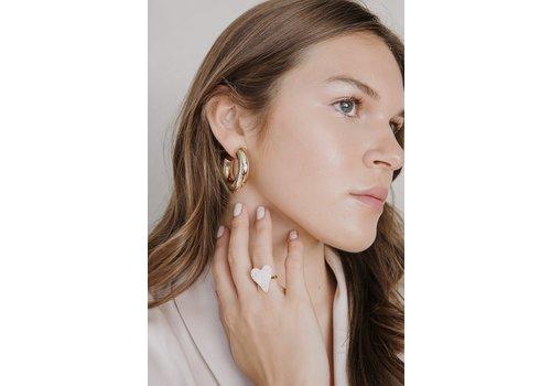 LimLim Light Tube Earrings Gold