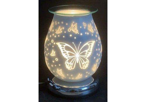 3D Butterfly Eggshell Touch Sensor Glass Lamp Wax Holder