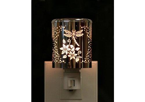 Silver Dragonfly Night Light