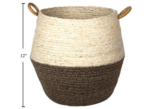 "Maize Jute Rope Planter Basket Natural/Brown 10""x12"""