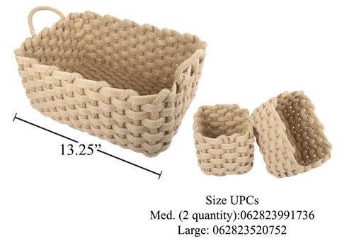 Dutch Growers Chunky Jute Woven Basket Natural