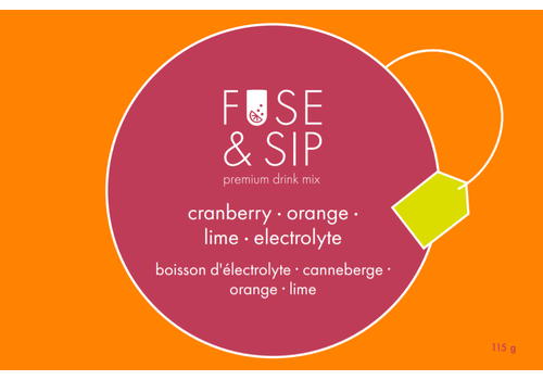 Fuse & Sip Cranberry, Orange & Lime Electrolyte Drink Infusion