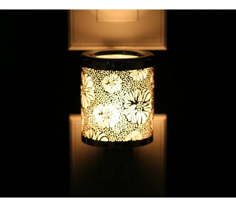 Silver Flower Night Light
