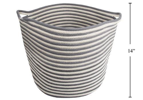"""Cotton Rope Round Basket 16"""""""