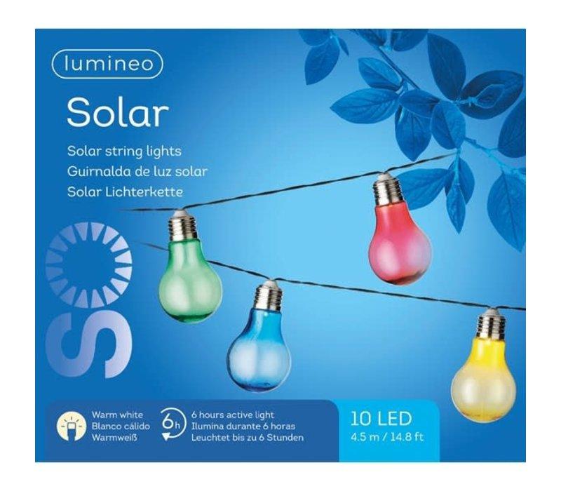 "Solar String Lights Warm White 177""10L"