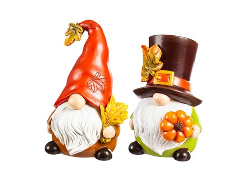 Polyresin Harvest Gnome Table Decor