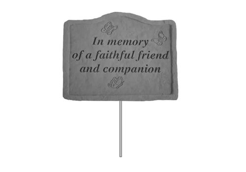 Garden Stake in Memory of a Faithful Friend
