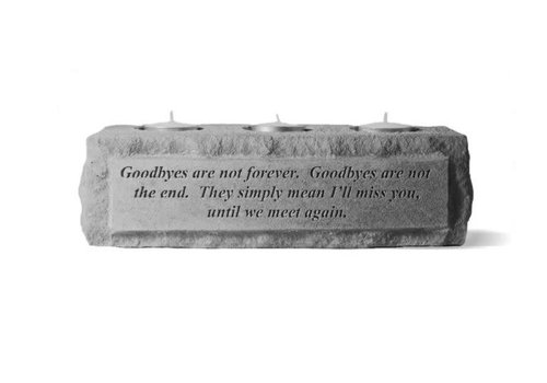 Memorial Candle Holder 3 Light Goodbyes
