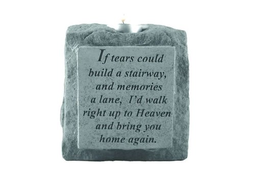 Memorial Candle Holder Single If Tears